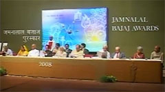 Jamnalal Bajaj Awards 2008 - Award Ceremony